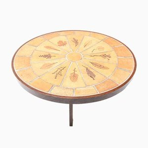 Mid-Century French Oval Ceramic Coffee Table by Roger Capron, 1970s