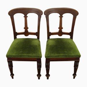 Antike Mahagoni Beistellstühle mit Ausklappbaren Sitzen, 1910er, 2er Set