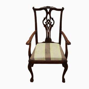 Mahagoni Carver Sessel mit Ausklappbarer Sitzfläche, 1920er