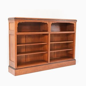 Art Deco Oak Open Bookcase, 1920s