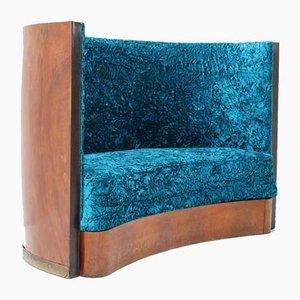 Art Deco Walnuss Sofa oder Sofa, 1930er