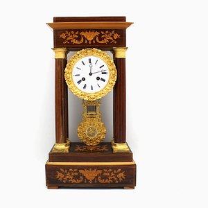 19th Century Charles X Portico Pendulum Clock
