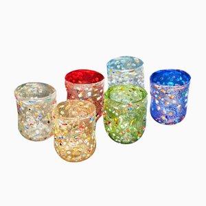 Set di bicchieri vintage in vetro di Murano di Vestidello Luke per Ribes, inizio XXI secolo, set di 6