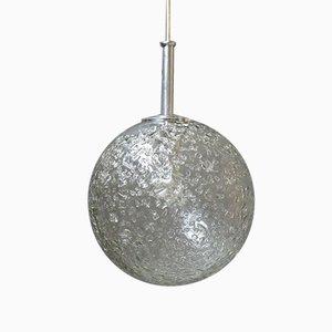 Deutsche Glaskugel Hängelampe von Doria Leuchten, 1960er