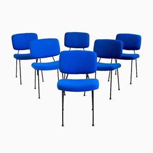 Französische Modell CM 196 Esszimmerstühle von Pierre Paulin für Thonet, 1960er, 6er Set