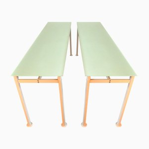 Vintage Belgian M Desks by Luc Vincent for Bulo, Set of 2