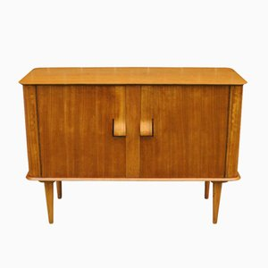 Oak and Beech Plywood Credenza with Bentwood Handles and Shelves by Alphons Loebenstein for Meredew, 1960s