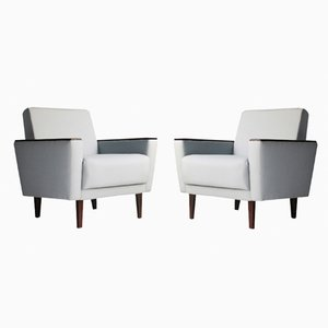 Vintage Danish Armchairs with Sustainable Upholstery, Set of 2