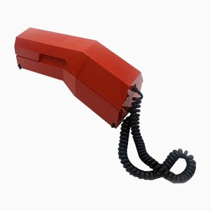 Teléfono modelo Rialto italiano Mid-Century de plástico rojo de Siemens, años 60