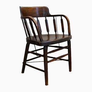 Antike Amerikanische Kapitäne Stühle, 2er Set