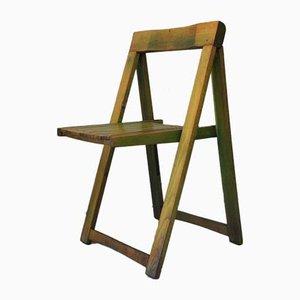 Sillas plegables italianas de madera de Aldo Jacober para Alberto Bazzani, años 60. Juego de 2