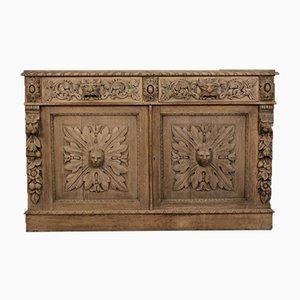 Antique Bleached Oak Side Cabinet