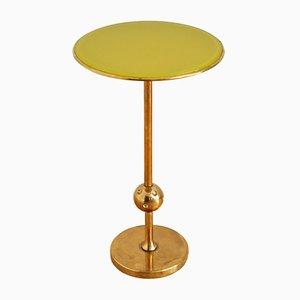 Brass and Yellow Glass Model T1 Side Table by Osvaldo Borsani for Atelier Borsani Varedo, 1950s