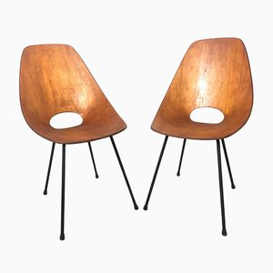 Plywood Dining Chairs by Vittorio Nobili for Fratelli Tagliabue, 1950s, Set of 2