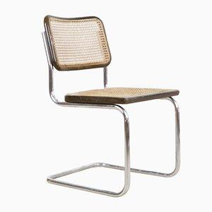 Chaise de Salon Mid-Century en Noyer et en Chrome, Italie