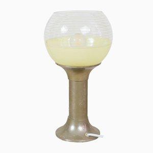 Mid-Century Tischlampen aus Chrom & Pistazie, 2er Set