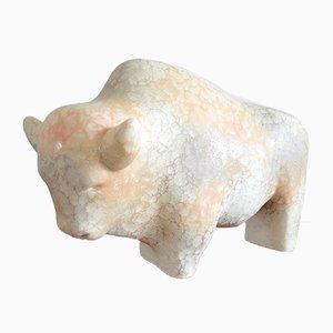 Stier Figur aus Keramik von Kurt Tschörner für Ruscha, 1970er