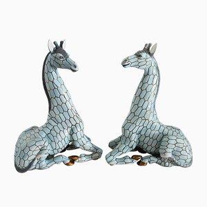 Italian Ceramic Giraffes from Giovanni Ronzan, 1950s, Set of 2
