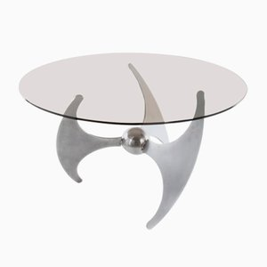 Steel Model Elica Coffee Table by L. Campanini, 1970s