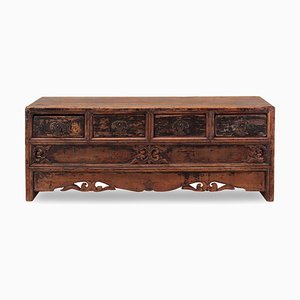 Antique Low Carved Chest