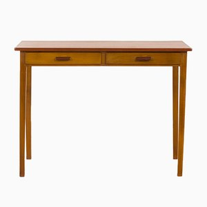 Small Danish Teak and Beech Lady Desk, 1960s