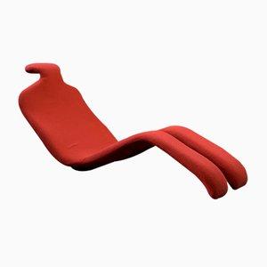 Chaise Lounge Bouloum en rojo de Olivier Mourgue para Airborne, años 60