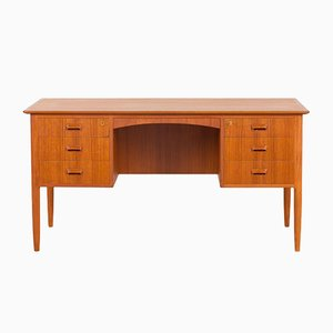 Danish Teak Desk Attributed to A.B. Madsen & E. Larsen, 1960s