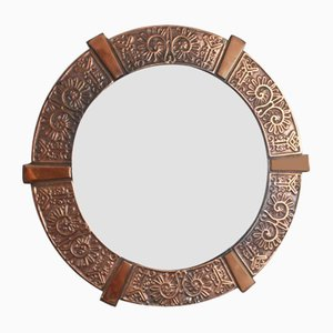 Mid-Century Artisan Copper Mirror