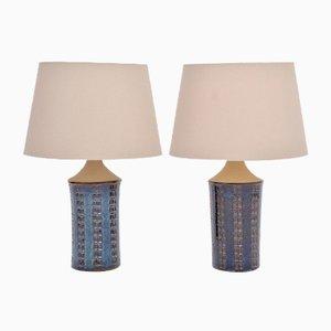 Blaue Mid-Century Tischlampen von Maria Philippi für Søholm, 1960er, 2er Set