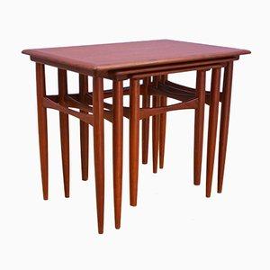 Danish Teak Nesting Tables, 1960s, Set of 3