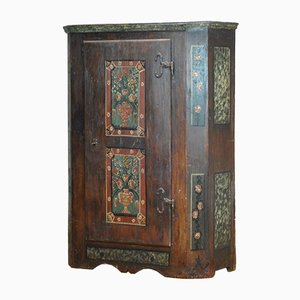 Antique German Hand Painted Cabinet, 1810s