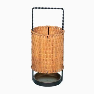 Mid-Century Wicker Umbrella Stand, 1960s