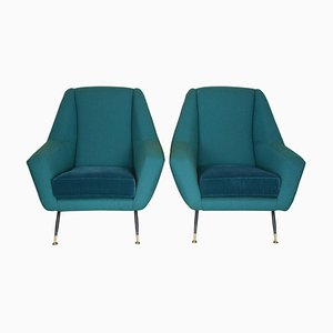 Mid-Century Italian Armchairs Attributed to Gigi Radice, 1950s, Set of 2