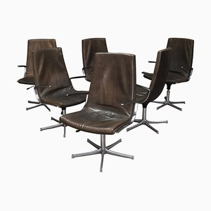Leather Swivel Desk Chair from Walter Knoll, Germany, 1970s