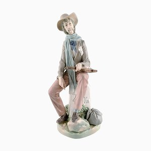 Large Vintage Spanish Troubadour Porcelain Figure from Lladro