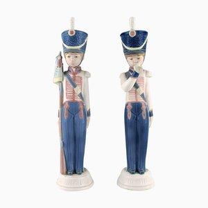 Spanische Vintage Figuren aus Porzellan von Guard Boys von Lladro, 2er Set