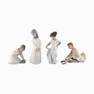 Figurines de Jeunes Filles en Porcelaine par Nao & Rex pour Lladro, Espagne, 1970s, Set de 4