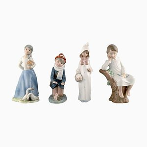 Porcelain Figurines of Children by Tengra & Zaphir for Lladro, Spain, 1980s, Set of 4