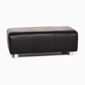 Black Leather 350 Ottoman from Rolf Benz
