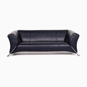 Dark Blue Leather 322 3-Seat Sofa from Rolf Benz