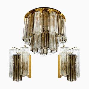 Murano Glass Light Fixtures by J.T. Kalmar, Austria, 1960s, Set of 3