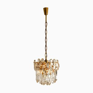 Gilt Brass and Glass Palazzo Wall Light Fixture by J.T. Kalmar, 1970s
