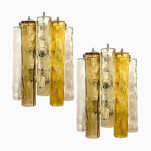 Large Murano Glass Wall Sconces from Barovier & Toso, 1960s, Set of 2