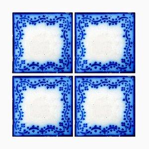 Antique Ceramic Tiles by Desvres, France, Set of 35