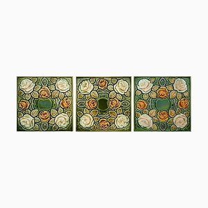 Art Nouveau Glazed Tile, 1920s