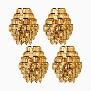 Modern Crystal Glass Wall Sconce from Bakalowits & Söhne, 1960s