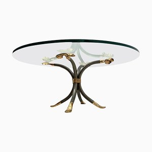 Brass and Iron Coffee Table by Manfred Bredohl, Germany, 1970s