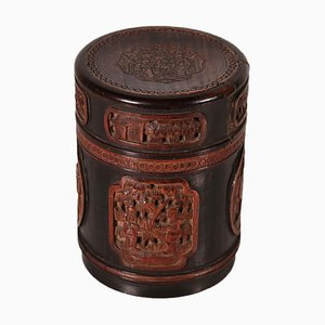 Chinese Qing's Time Bamboo Tea Box