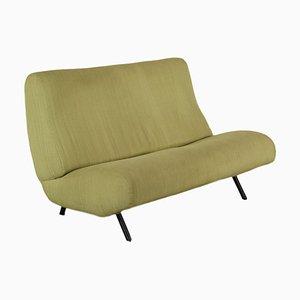 Foam, Fabric & Brass Sofa by Marco Zanuso for Arflex, 1960s