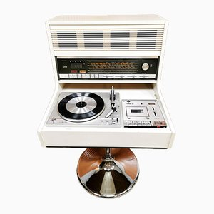 Space Age Commander Music Player Stereo Set by Theo Schmitz for Rosita, 1970s